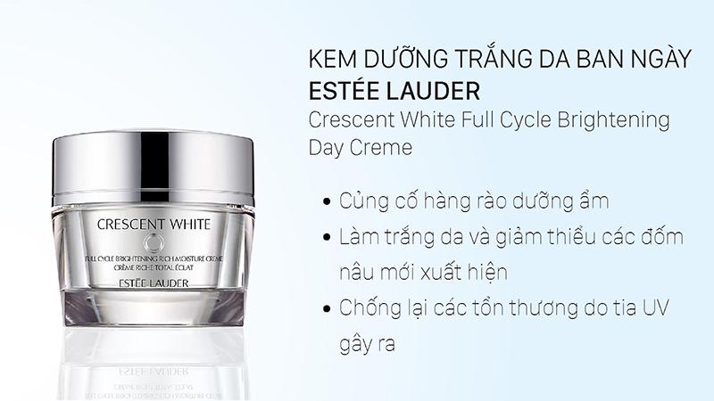 Kem dưỡng trắng da ban ngày Estée Lauder Crescent White Full Cycle Brightening Day Crème 50ml