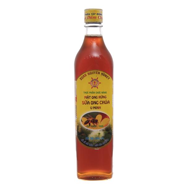 Mật ong rừng sữa ong chúa U Minh Xuân Nguyên chai 500ml