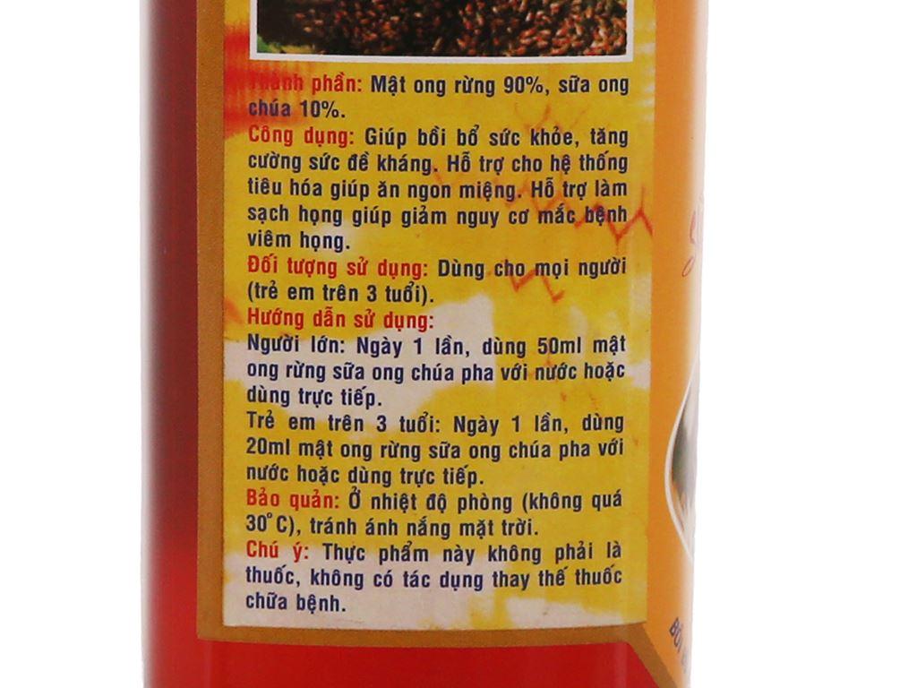 Mật ong rừng sữa ong chúa Xuân Nguyên chai 500ml 4