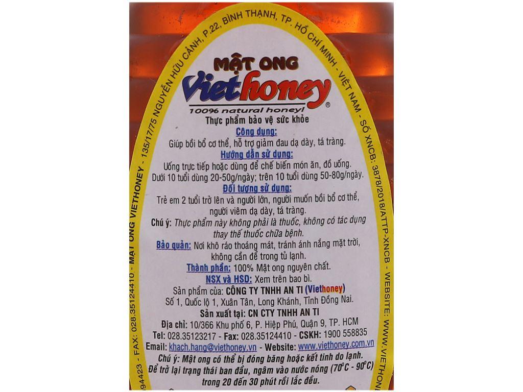 Mật ong Viethoney chai 200g 4