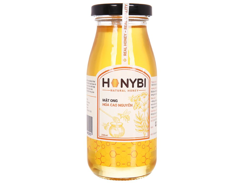 Mật ong hoa cao nguyên Honybi hũ 250ml 1