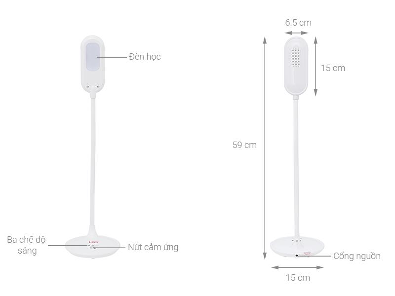 Thông số kỹ thuật Đèn bàn học Điện Quang LDL05 3W