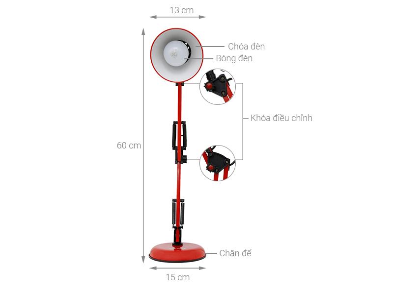 Thông số kỹ thuật Đèn bàn học Điện Quang DKL14 R