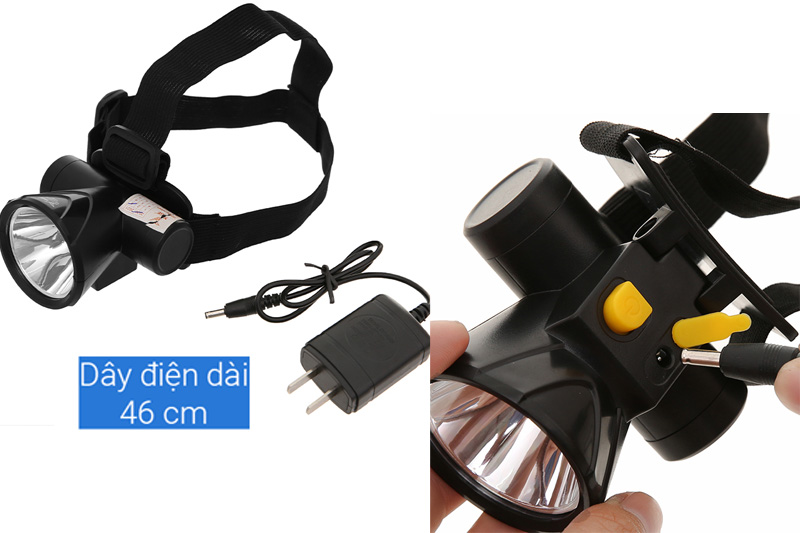 Sử dụng pin sạc - Đèn pin đội đầu YAGE YG-U107