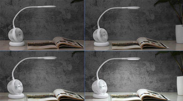 Đèn bàn trang bị hệ thống 16 bóng đèn LED, công suất 8 W đáp ứng ánh sáng tự nhiên, ổn định, không nhấp nháy