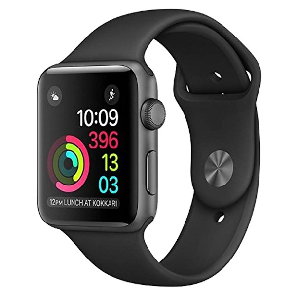 Apple Watch S3 GPS, 42mm viền nhôm, dây cao su màu đen