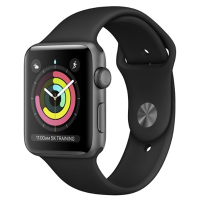 Apple Watch S3 GPS, 38mm viền nhôm, dây cao su