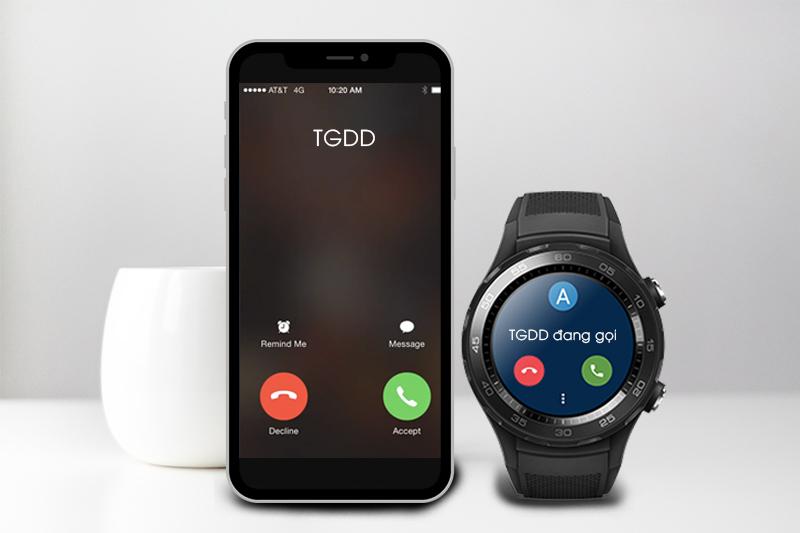 Đồng hồ thông minh Huawei Watch 2 - Trả lời cuộc gọi trực tiếp trên đồng hồ
