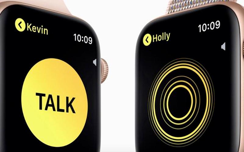 Apple Watch S4 GPS 40mm Viền Nhôm dây cao su màu hồng (MU682VN/A) - walkie talkie