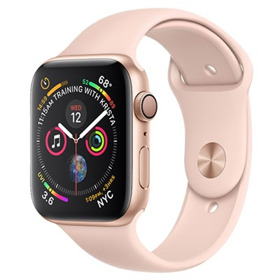 Apple Watch S4 GPS 44mm Viền nhôm dây cao su màu hồng (MU6F2VN/A)