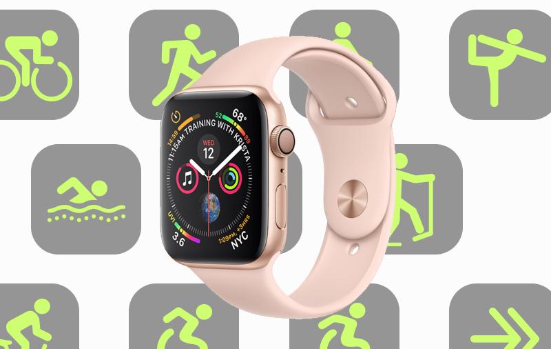 Apple Watch S4 GPS 44mm Viền nhôm (MU6F2VN/A) - các môn luyện tập