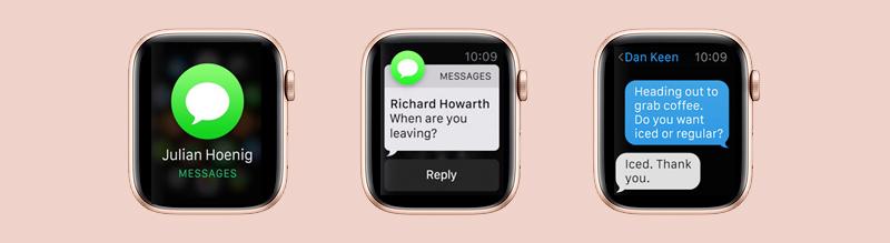 Apple Watch S4 GPS 44mm Viền nhôm (MU6F2VN/A) - thông báo