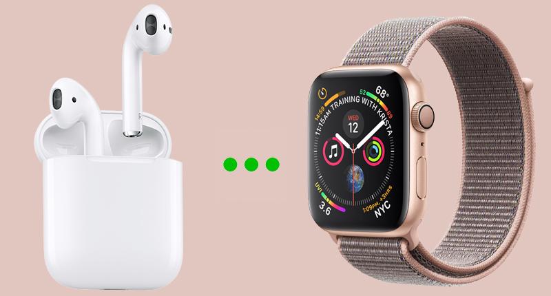Apple Watch S4 GPS 40mm (MU692VN/A) - kết nối tai nghe