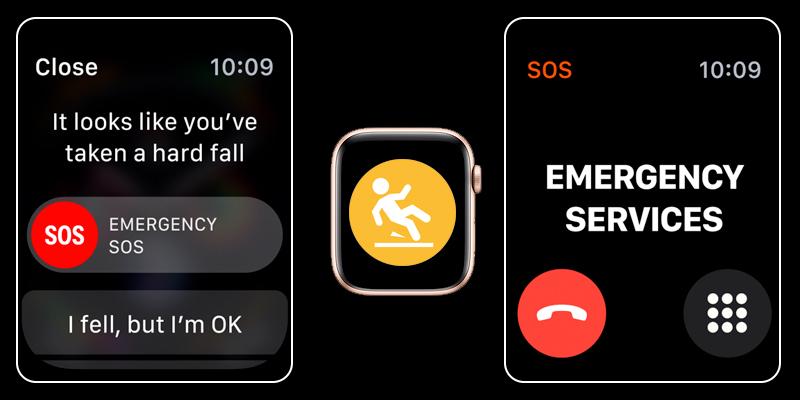 Apple Watch S4 GPS 40mm (MU692VN/A) - cảm biến té ngã