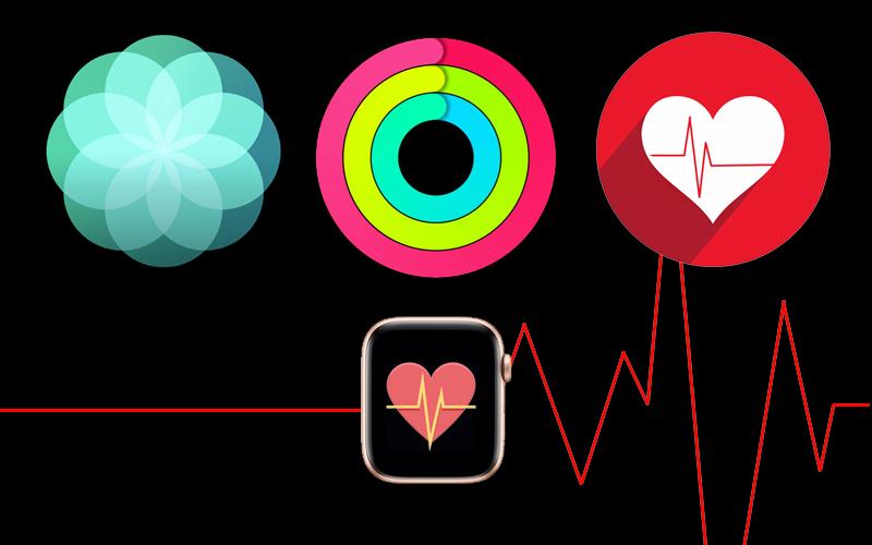 Apple Watch S4 GPS 40mm (MU692VN/A) - đo sức khỏe
