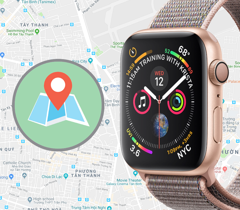 Apple Watch S4 GPS 40mm (MU692VN/A) - gps