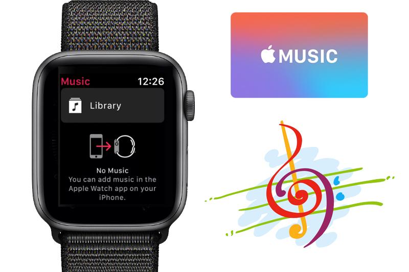 Apple Watch S4 GPS 40mm space grey (MU672VN/A) - âm nhạc