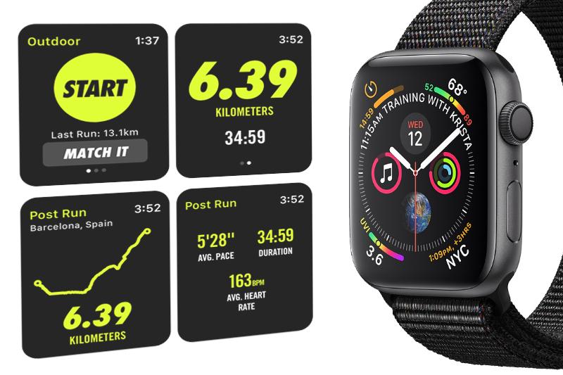 Apple Watch S4 GPS 40mm space grey (MU672VN/A) - tập luyện
