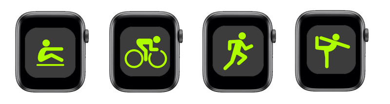 Apple Watch S4 GPS 40mm space grey (MU672VN/A) - chế độ tập