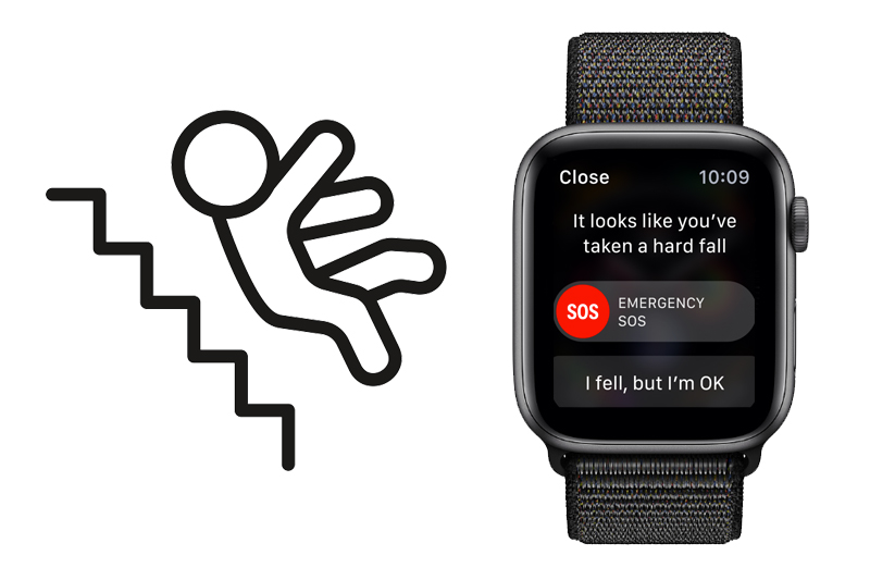 Apple Watch S4 GPS 40mm space grey (MU672VN/A) - phát hiện ngã