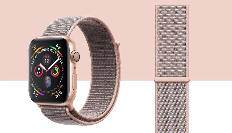 Apple Watch S4 Gold Aluminium GPS 44mm (MU6G2VN/A) - thiết kế