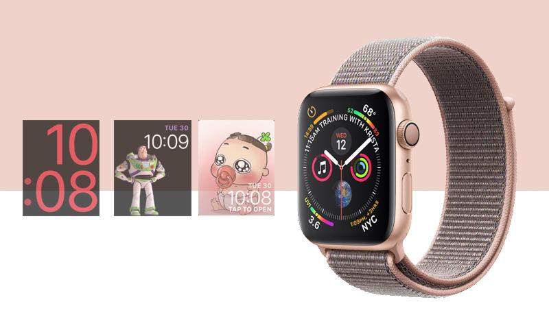 Apple Watch S4 Gold Aluminium GPS 44mm (MU6G2VN/A) - mặt đồng hồ