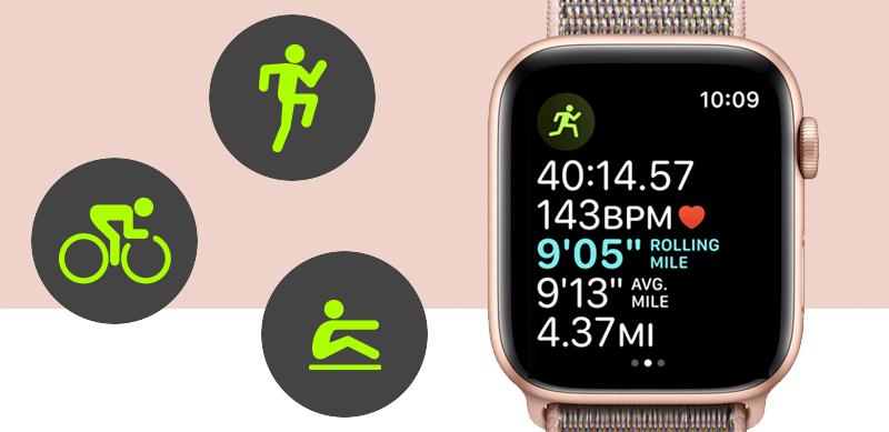 Apple Watch S4 Gold Aluminium GPS 44mm (MU6G2VN/A) - tập luyện