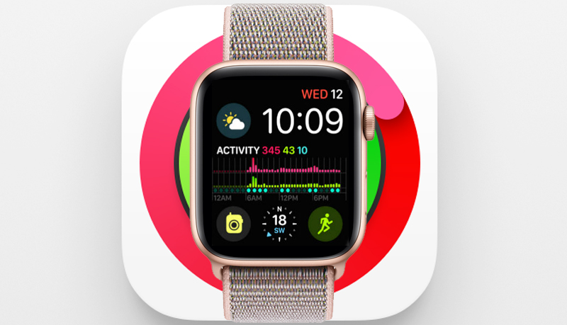 Apple Watch S4 Gold Aluminium GPS 44mm (MU6G2VN/A) - vận động