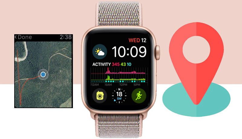 Apple Watch S4 Gold Aluminium GPS 44mm (MU6G2VN/A) - gps