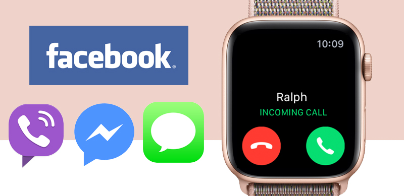 Apple Watch S4 Gold Aluminium GPS 44mm (MU6G2VN/A) - thông báo