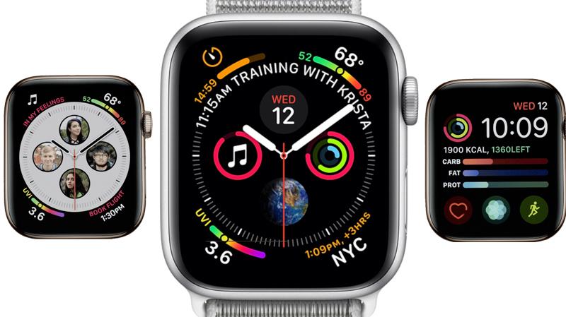 Apple Watch S4 GPS 44mm silver (MU6C2VN/A) - mặt đồng hồ