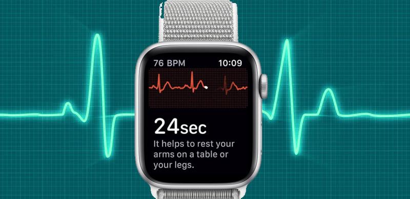 Apple Watch S4 GPS 44mm silver (MU6C2VN/A) - điện tâm đồ