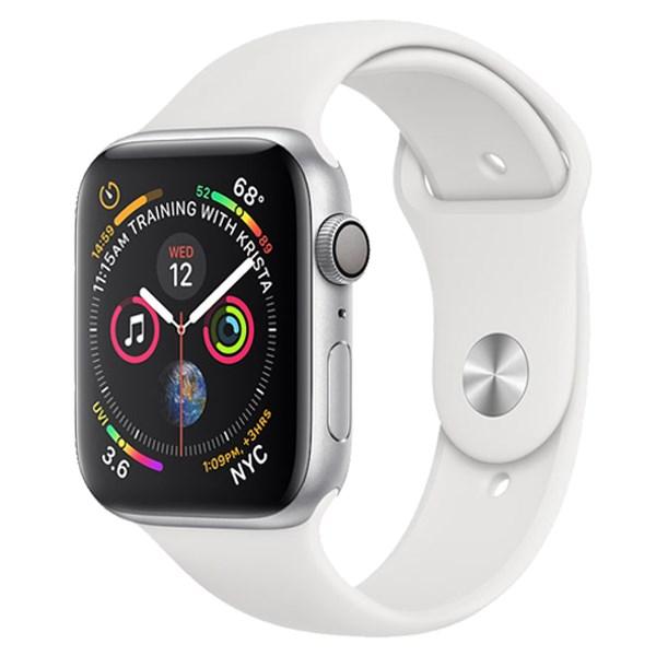 Apple Watch S4 GPS 44mm viền nhôm dây cao su màu trắng (MU6A2VN/A)