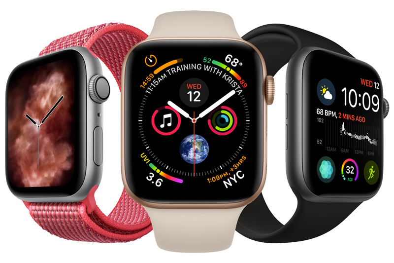 Apple Watch S4 GPS 44mm space Grey (MU6D2VN/A) - mặt đồng hồ