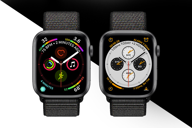 Apple Watch S4 GPS 44mm space grey (MU6E2VN/A) - nhiều mặt đồng hồ