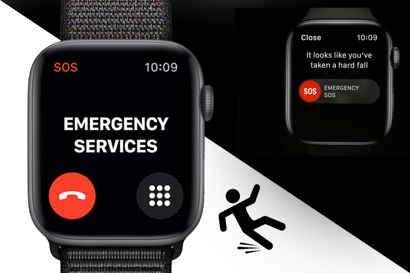 Apple Watch S4 GPS 44mm space grey (MU6E2VN/A) - phát hiện té ngã