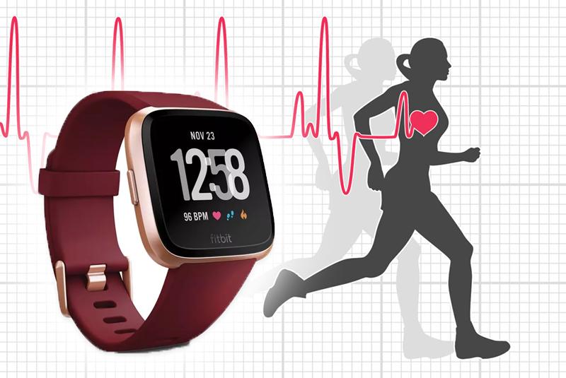 Smartwatch Fitbit Versa Đỏ với tính năng theo dõi nhịp tim