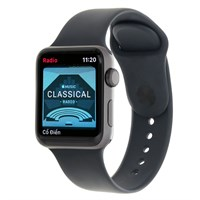 Apple Watch S3 GPS 42mm viền nhôm xám dây cao su