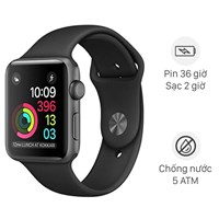 Apple Watch S3 GPS 42mm viền nhôm dây cao su đen