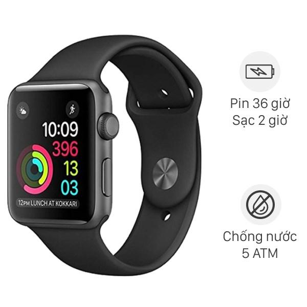 Apple Watch S3 GPS 42mm viền nhôm dây cao su