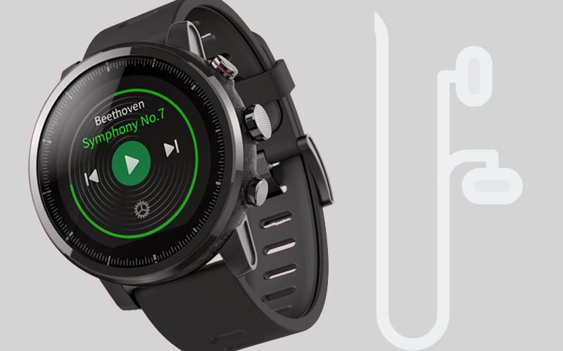Đồng hồ thông minh Xiaomi Amazfit Stratos 2 - Nghe nhạc qua tai nghe Bluetooth