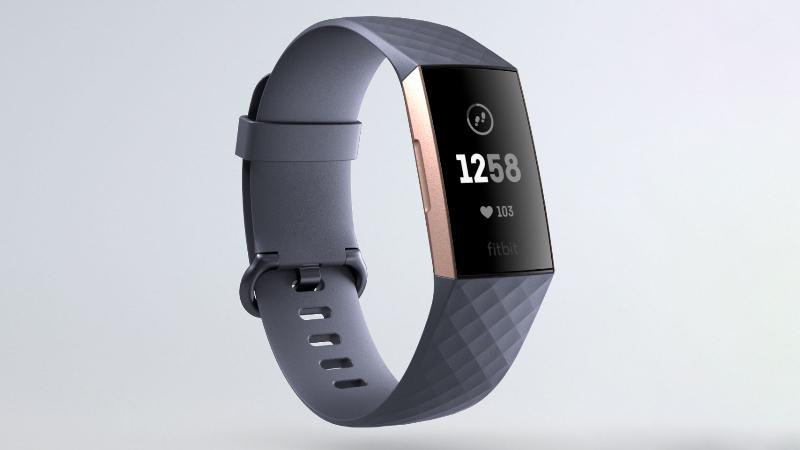 Vòng tay thông minh Fitbit Charge 3 Xanh Dương - Thiết kế mới, thanh thoát hơn