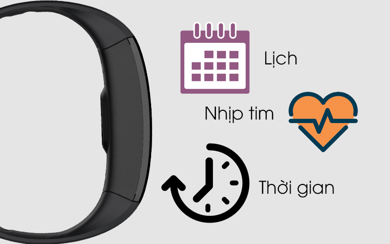 Thông báo hiển thị trên Vòng tay thông minh Zeblaze Plug C