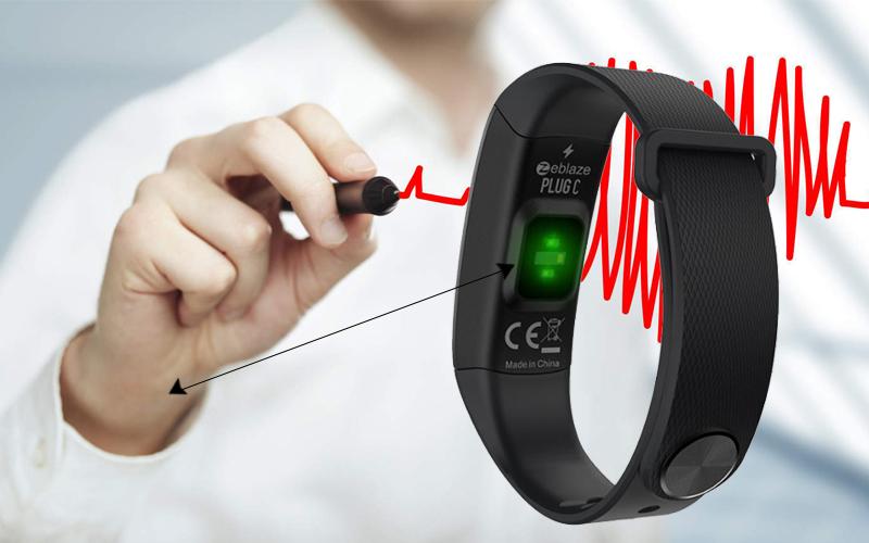 Đo nhịp tim trên Vòng tay thông minh Zeblaze Plug C