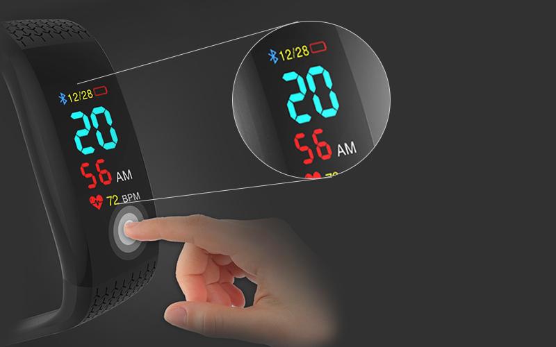 Màn hình trên Vòng tay thông minh Sinophy Sport B12