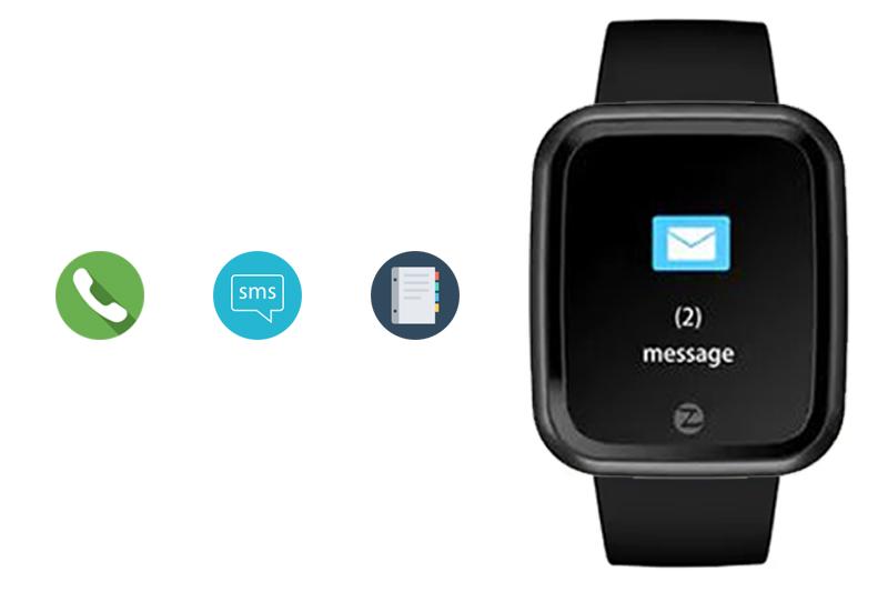 tính năng hiển thị thông báo trên Đồng hồ thông minh Zeblaze Crystal 2 đen