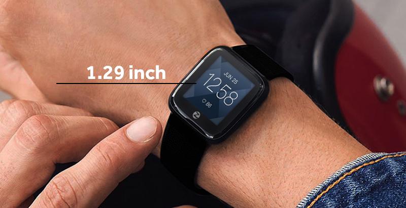 Đồng hồ thông minh Zeblaze Crystal 2 đen - Màn hình