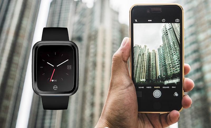 Đồng hồ thông minh Zeblaze Crystal 2 đen - Chụp ảnh giúp bạn