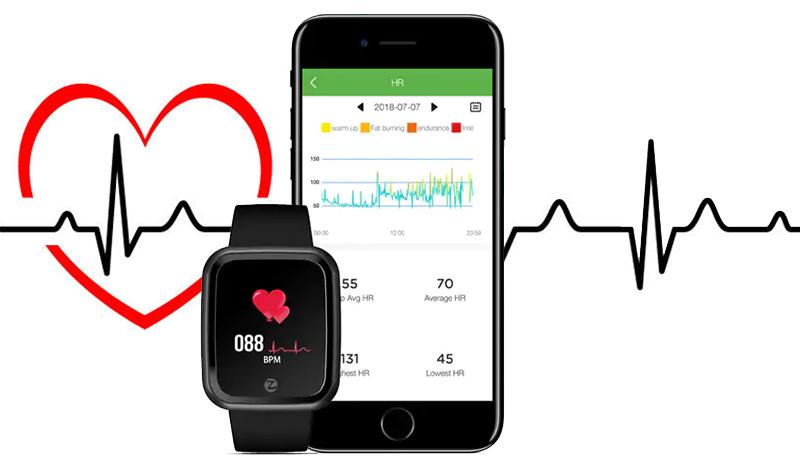 Đồng hồ thông minh Zeblaze Crystal 2 đen - Chăm sóc sức khỏe