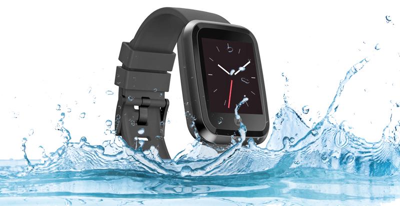 Đồng hồ thông minh Zeblaze Crystal 2 đen - Chống nước